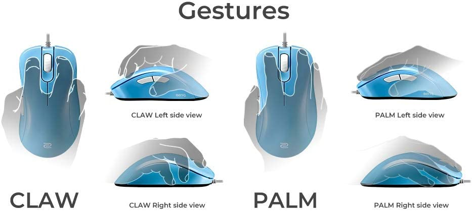 Large BenQ ZOWIE EC1-B DIVINA Blue Ergonomic Gaming Mouse for Esports