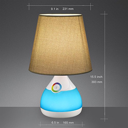 Phive table lamp for bedroom living room dimmable led for Bedroom touch table lamps
