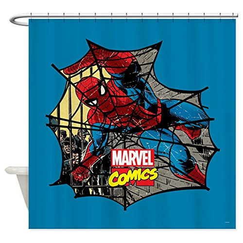 CafePress - Spider Web 2 - Decorative Fabric Shower Curtain