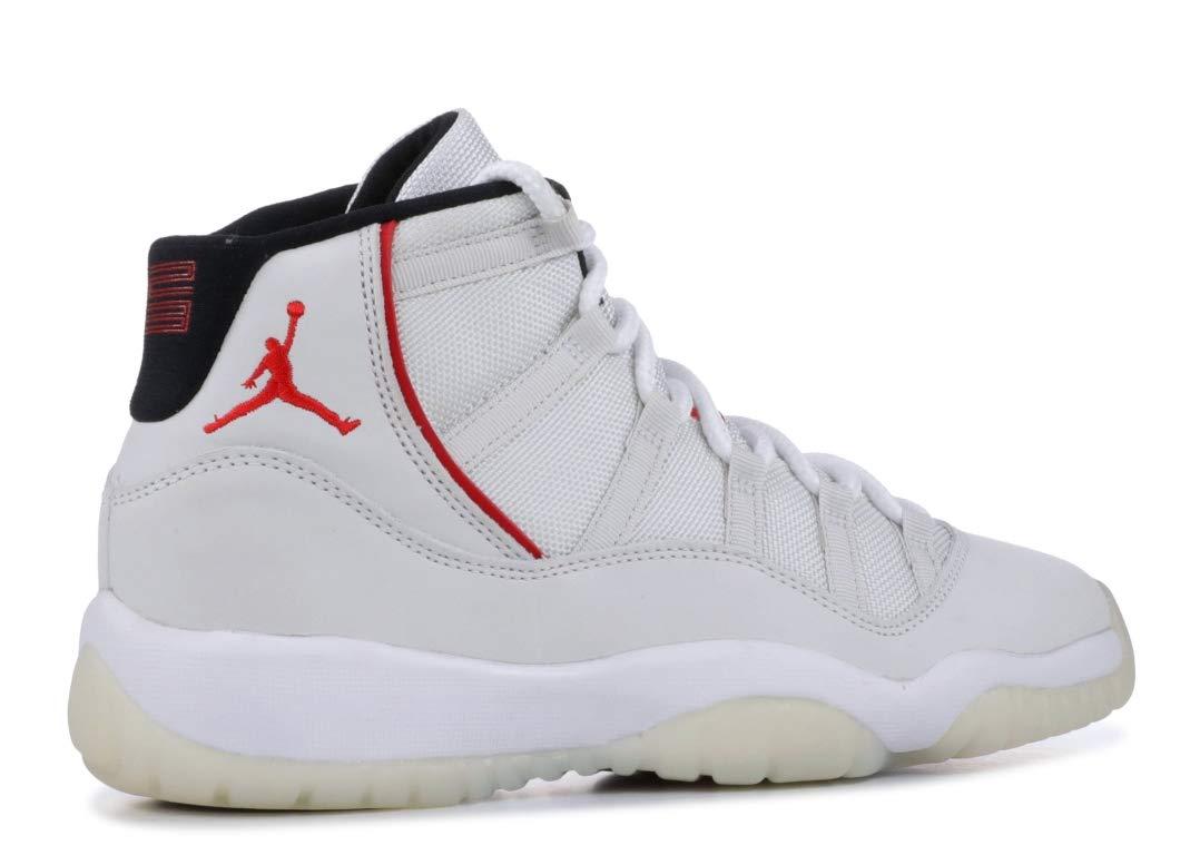 Jordan Kid's Air 11 Retro GS, Platinum Tint/SAIL-University RED, Youth Size 5 by Nike (Image #3)