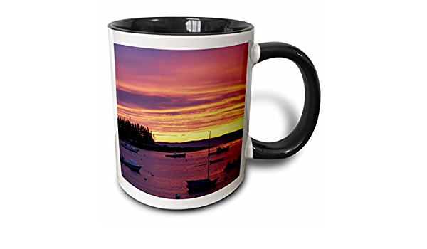 3drose Southport Island Boothbay Harbor Maine Jerry And Marcy Monkman Two Tone Mug 11 Oz Black White Kitchen Dining