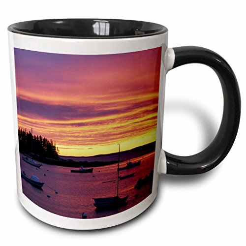 Southport Island (3dRose 90675_4 Southport Island, Boothbay Harbor, Maine Jerry And Marcy Monkman Two Tone Black Mug 11 oz White)