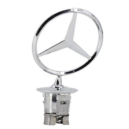 3D Chrome Star Metal Front Hood LOGO Emblem Badge for Mercedes Benz C//E//S-class