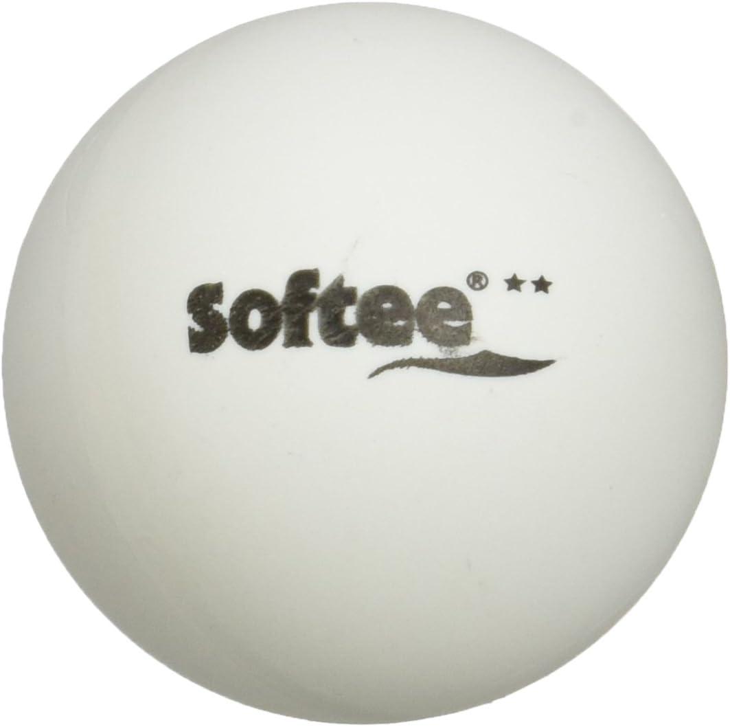 Softee Equipment Juego 6 Pelotas Tenis de Mesa 3 Estrellas Blanco