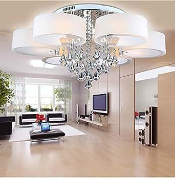 Lfnrr f cil estilo led de techo leuchten moderna for Comedores minimalistas de cristal
