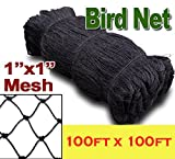 1'' Mesh Size, Net Netting for Bird Poultry Aviary Game Pens Plants Garden (100ft x 100ft)
