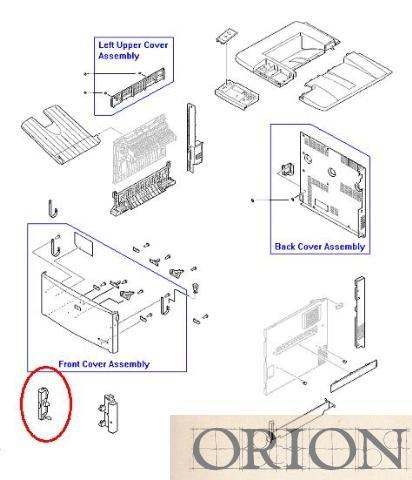 Hp Laserjet 9500 Rb2-5683-000cn Front Left Cover 000cn Front Cover