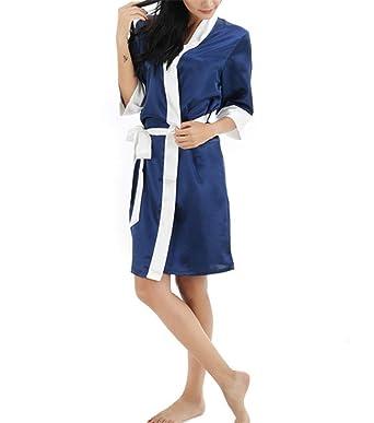 Damas Kimono Bata Albornoz De Las Mujeres Dama De Camisón De Honor Mode De Marca Batas Bata De Raso Damas De Baño Pijamas Camisón: Amazon.es: Ropa y ...