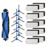 isinlive Replacement Parts Compatible eufy RoboVac 11S RoboVac 30 RoboVac 30C RoboVac 15C RoboVac 12 RoboVac 35C RoboVac 15T Accessory, 19 Pack (10 Filters + 8 Side Brushes + 1 Rolling Brush)