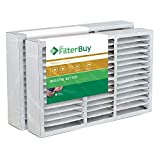 FilterBuy 16x25x5 Honeywell FC200E1029 Compatible Pleated AC Furnace Air Filters (MERV 11, AFB Gold). Replaces Honeywell 203719, FC35A1001, FC100A1026, FC100A1029 and Carrier FILXXCAR0016. 2 Pack.