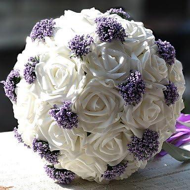 Bouquet Sposa Tondo.Funan Bouquet Sposa Tondo Rose Bouquet Matrimonio Raso Fiori
