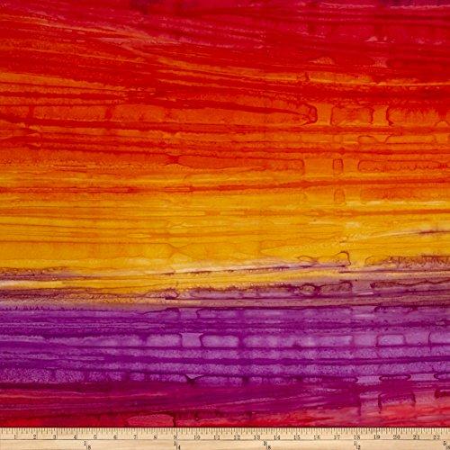 Robert Kaufman 0471370 Artisan Batiks Patina Handpaints Stripes Fabric by The Yard, Bright ()