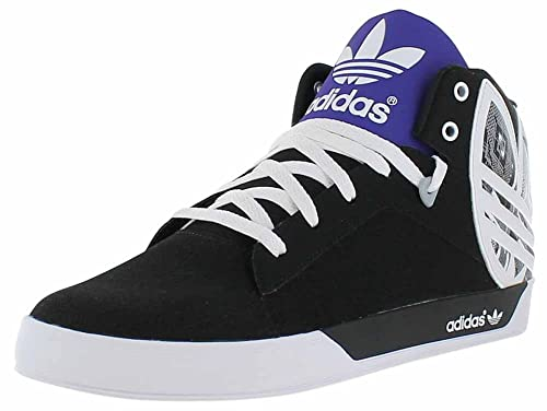 cheaper c7cd6 8b021 adidas Attitude Vulc Big Logo Mens Mid Top Sneakers Shoes (9.5) Black