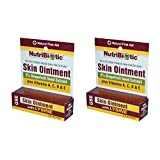 NutriBiotic Skin Ointment (Pack of 2) with Olive Oil, Beeswax, Lysine, Grapefruit Seed Extract, Echinacea Extract, Goldenseal Leaf Extract and Vitamin E, 0.5 oz.