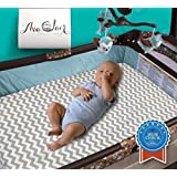 """Best All-in-1 Waterproof Pack N' Play: Baby Mattress Pad & Fitted Sheet, Heat-Resistant, Highly Durable for 300+ Washes, Hypoallergenic, for Mini, Portable, Convertible Crib Mattresses, 27"""" x 39"""""""