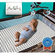 Best All-in-1 Waterproof Pack N' Play: Baby Mattress Pad & Fitted Sheet, Heat-Resistant, Highly Durable for 300+ Washes, Hypoallergenic, for Mini, Portable, Convertible Crib Mattresses, 27  x 39