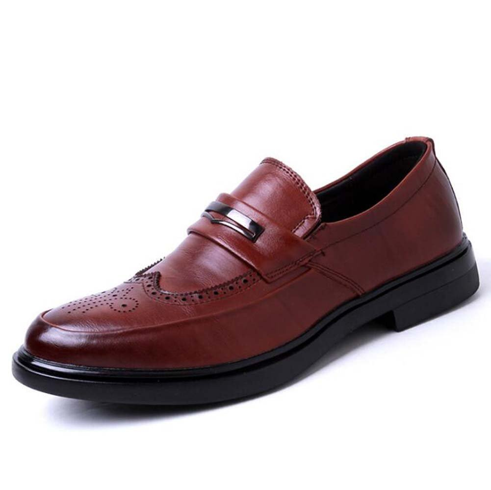 Zapatos de Negocios para Hombres Zapatos Moda Zapatos Ocasionales Cómodos Verano Nuevo 42 EU|Marrón