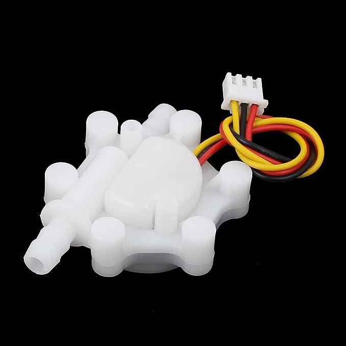 Amazon.com: DealMux G1 / 4 0.1L / MIM-4,5 L / min com fio de efeito Hall de fluxo de água branca sensor: Home Improvement
