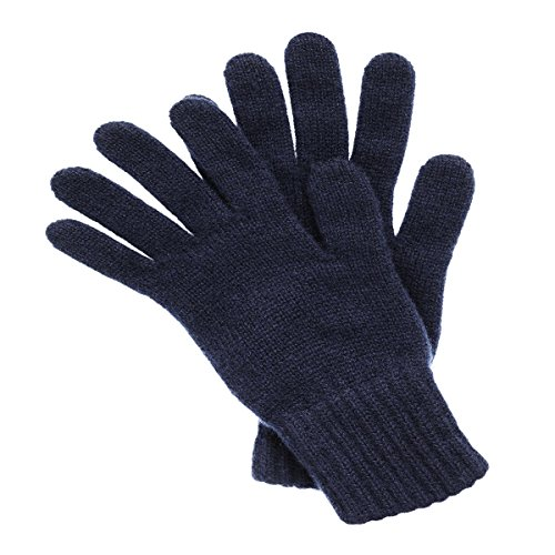 Lady In The Navy Gloves (Women's Cashmere Gloves Made in Scotland (Navy))