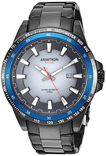 - Armitron Men's 20/5303BKTI Solar Powered Date Function Black Bracelet Watch