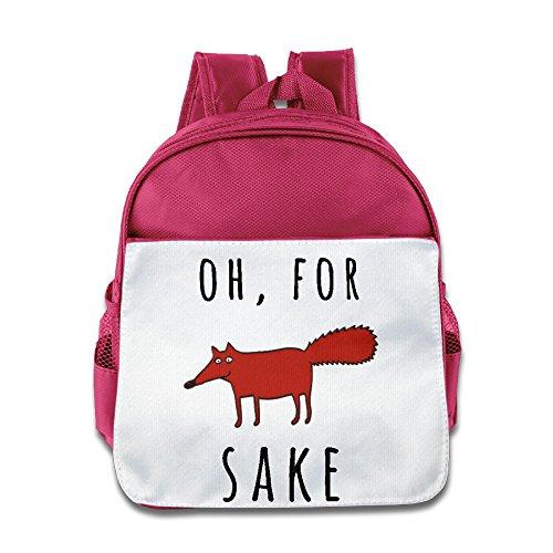 XJBD Custom Superb For Fox Sake.PNG Kids Children Schoolbag For 1-6 Years Old Pink (Racing Fox Girls Backpack)