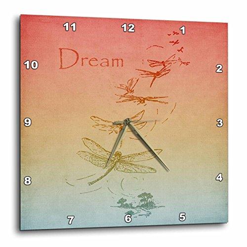 3dRose dpp_79229_2 Gradient Dream Dragonflies-Vintage Art Wall Clock, 13 by - Pics Gradient