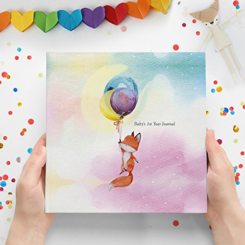 Baby First Year Journal - Modern Baby Memory Book - Baby Photo Album for New Parents