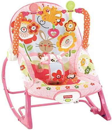 Suitable from Birth Fisher-Price DMR88 Rainforest Friends Infant-to-Toddler Rocker New-Born Baby Bouncer and Can be Used as a Baby Chair