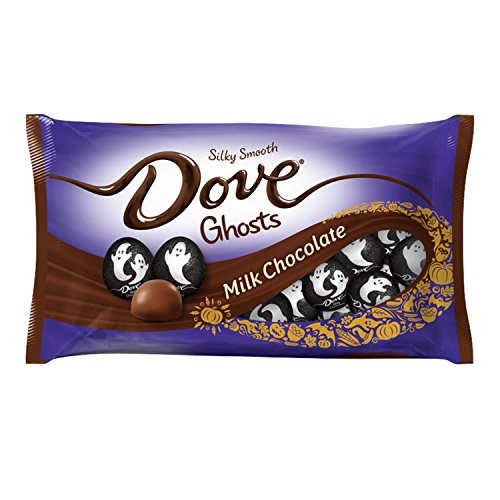 DOVE Milk Chocolate Halloween Candy Ghosts 8.87-Ounce Bag (Pack of 12)