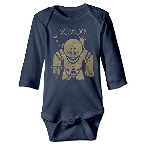 HYRONE Bioshock Game Poster Baby Bodysuit Long Sleeve Romper Suits Size 6 M -