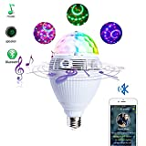 Bluetooth Smart Speaker LED Light RGB Color Bulbs Colorful Lamp Wireless Control Music Audio Speaker for Home,Stage