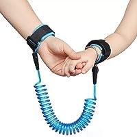 2.5m anti perso cinturino Link cintura da bambino per redini di sicurezza guinzaglio Wristband 360° rotazione cintura di sicurezza elastico filo corda Walking Hand