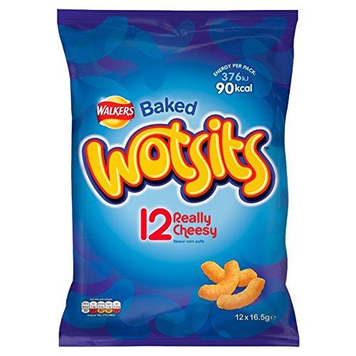 Wotsits Walkers Cheese Snacks 12 x 17g