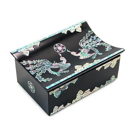 Caja para tarjetas de visita, diseño de asiática negro ...