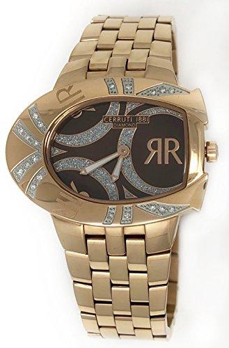 Cerruti 1881 Ladies Watch Brown with Rose Gold Plated Strap Diamond CRWDO006C231N