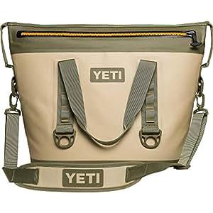 YETI Hopper Two 30 Portable Cooler, Field Tan / Blaze Orange