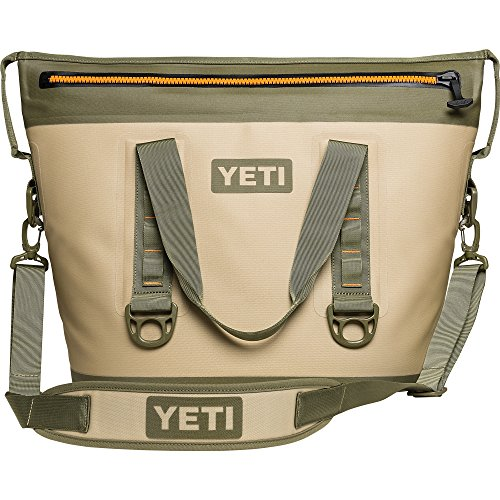 YETI Hopper Two 30 Portable Cooler, Field Tan / Blaze Orange