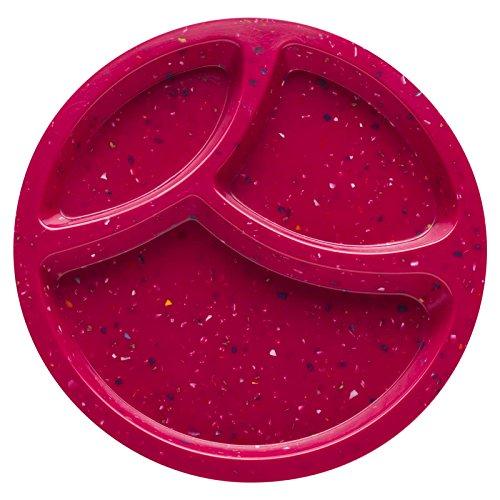 Zak Designs Confetti 8-inch Plastic Plates, Berry, 6 piece set