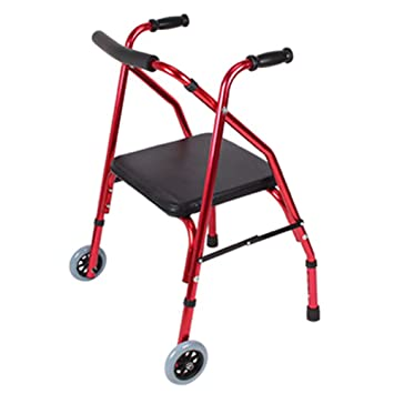 Andadores Ancianos Plegable Andador para Ancianos de 4 Ruedas ...
