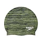 Speedo Unisex-Adult Swim Cap Silicone Elastomeric, Remix Lime Punch