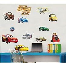 Fange DIY Removable Disney Pixar Cars Piston Cup Champs Art Mural Vinyl Waterproof Wall Stickers Kids Room Nursery Decor Decal Sticker 16.9''x9.8''
