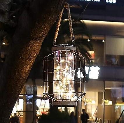 le patio les /év/énements pour lint/érieur//ext/érieur. Id/éal pour les mariages les f/êtes Lampe de table /à cage en m/étal aliment/ée par batterie Accent sans fil avec 20pcs guirlandes