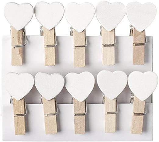 50pcs Wooden Pegs Photo Clips Note Card Holder Message Postcard Supply one