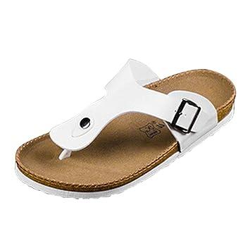 cfc0b7a22353 RUIZU Sports Sandalias Beach Sandals Flats Flip Flops Slippers Women Men  sandalias White US6  Amazon.co.uk  Sports   Outdoors