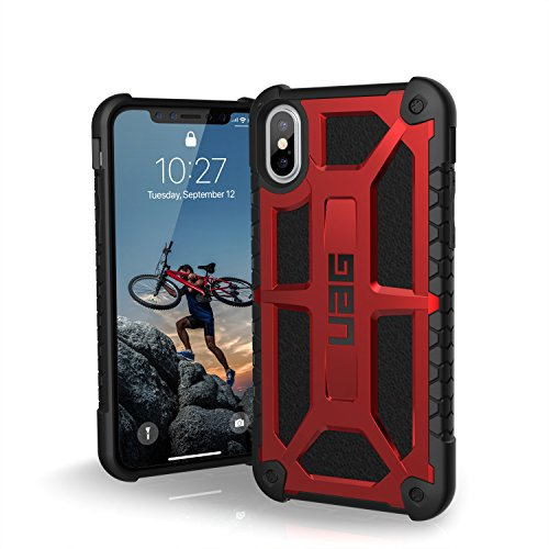 UAG iPhone X Monarch Feather-Light Rugged [CRIMSON] Military Drop Tested iPhone Case