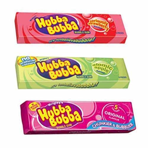 Hubba Bubba Bubblegum Mix Pack (Strawberry, Apple, Original) - 3 Packs
