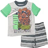 Disney Moana Maui Infant Baby Boys' T-Shirt & French Terry Shorts Clothing Set, Off-White (12 Months)