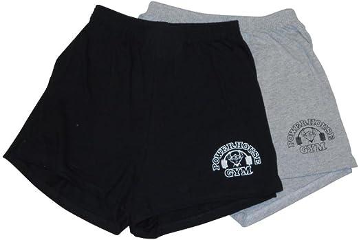 Amazon Com Powerhouse Gym Pantalones Cortos De Entrenamiento Para Hombre 2 Unidades Clothing