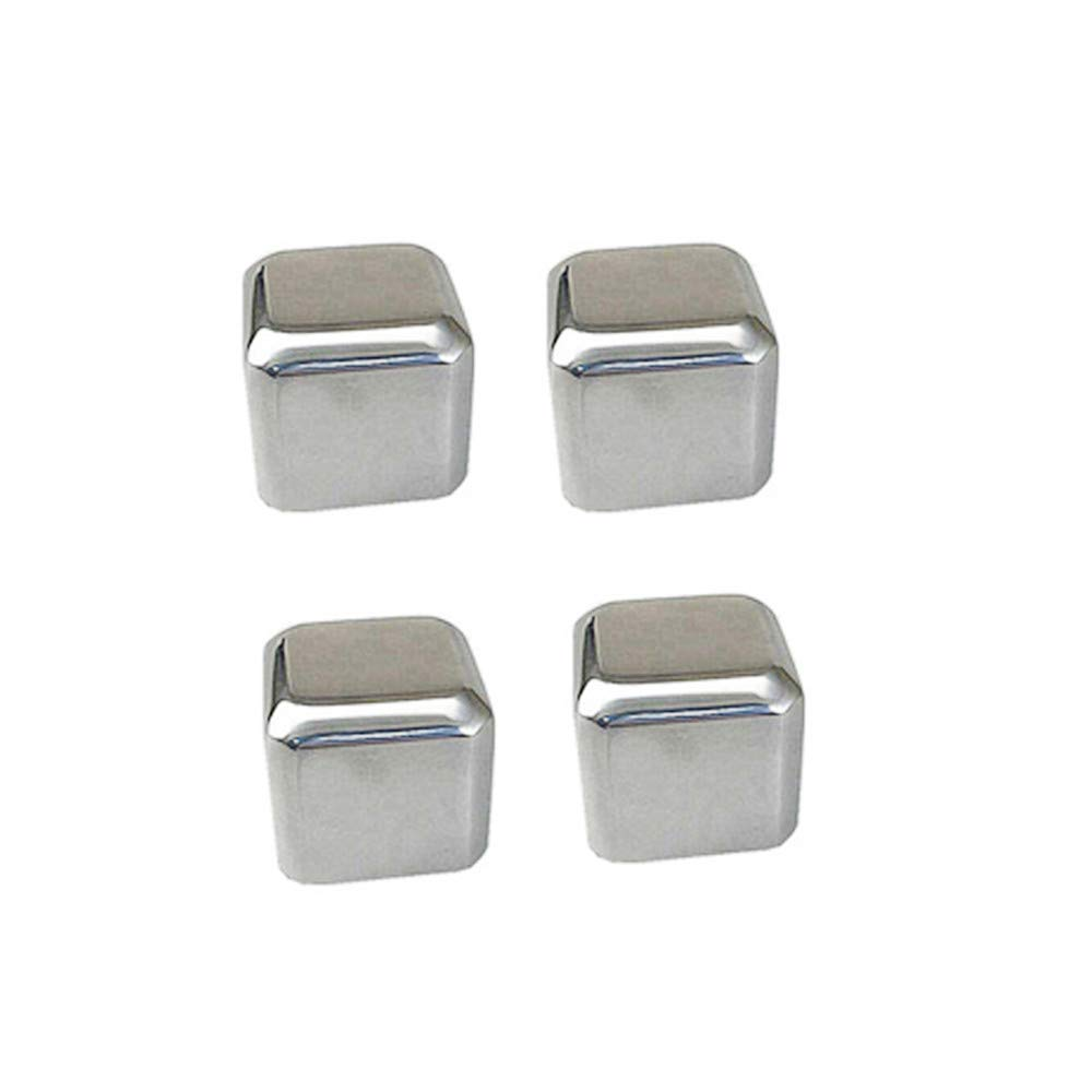 Ovovo Stainless Steel Cubes for Whiskey Wine Drinks Whiskey Stones Bpa Free Reusable Ice Cube