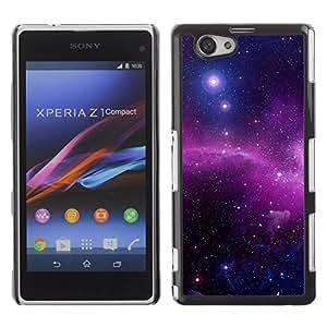 El Radiance Of The Star Focal - Metal de aluminio y de plástico duro Caja del teléfono - Negro - Sony Xperia Z1 Compact / Z1 Mini (Not Z1)